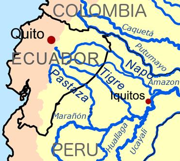 Map of Zaparoan homelands