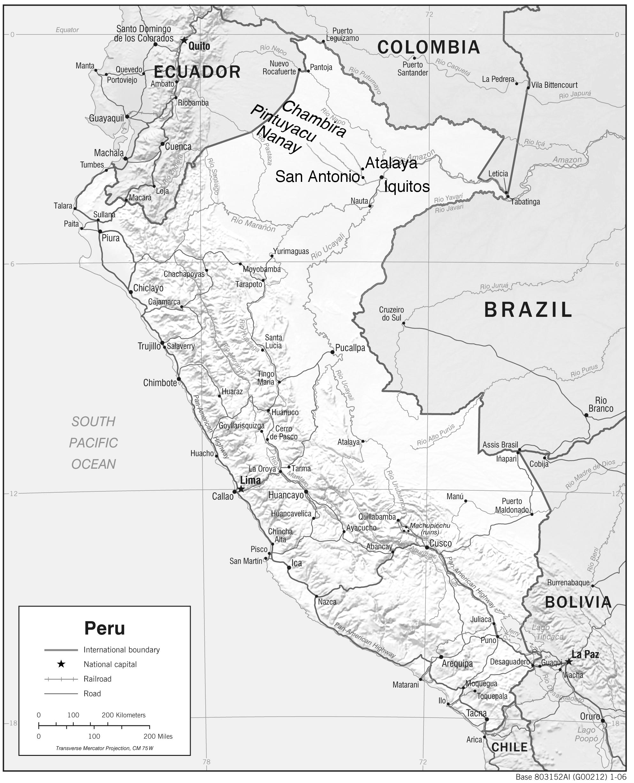 Location of San Antonio de Pintuyacu